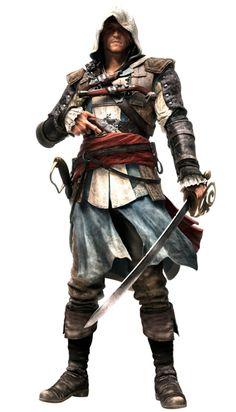 Edward Kenway, um gaulês que foi ex-marinheiro de sua majestade , pirata e membro da irmandade dos Assassinos durante era de ouro da pirataria.