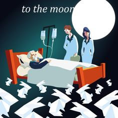 """""""To the Moon"""" - great game. Indie Game Illustration Series - bloomengine"""