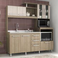 Na correria do dia-a-dia nada melhor do que uma cozinha organizada e prática, né? Então aposte em uma cozinha completa. Além da praticidade, essas peças ocupam pouco espaço!