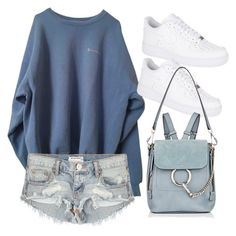 """""""Untitled #10988"""" by katgorostiza ❤ liked on Polyvore featuring OneTeaspoon, NIKE and Chloé"""