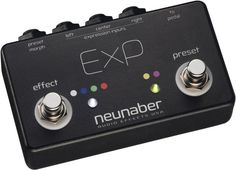 The ExP™ Controller unleashes the full functionality of your Neunaber v2 Stereo Pedal—four programmable effects with two presets each, three expression inputs (one for each knob), and a Preset Morph expression input. Multi-color LEDs uniquely identify effects/presets and are easily seen from a distance.