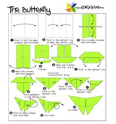 origami swallowtail butterfly instructions - Google Search