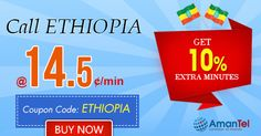 """Amantel #EthiopiaCallingOffer - Get 10% extra minutes to #CallEthiopia from #USA and #Canada. Just use this coupon code - """"ETHIOPIA"""" and enjoy your #international #Ethiopia #calling. Hurry up, offer valid for limited periods - http://amantel.com/offers/call-Ethiopia-2916.html"""