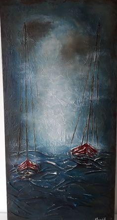 ''Sailing'' Acrylic on canvas by  by Anna Baramati.