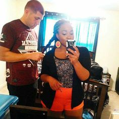 A Selfie Of My Hubby Showing His Love By Braiding My Hair And Doing A Great Job Because It Makes Me Feel Happy! Check more interracial couple photos at Blackwomendatingwhitemen. Interracial Family, Interracial Dating Sites, Mixed Couples, Couples In Love, Black Woman White Man, Black Women, Black And White Dating, Biracial Couples, Interacial Couples