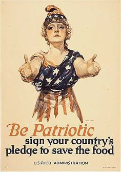 Propaganda was big all around and in the united states they wanted to ration food so more could be sent to the soldiers across the world