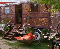 Gypsy Wagon. Copper relief. by Janny Dangerous