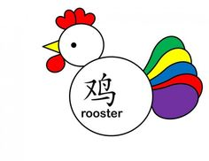 Rooster made with shapes--so cute and easy  Includes printable templates can cut, color   Nice idea for young kids for a CNY crafts  Crafts for Year of the Rooster: Printable Chinese New Year Projects