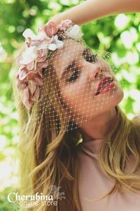 Processed with VSCOcam with preset Fascinator Headband, Wide Headband, Turban Headbands, Floral Headbands, Wedding Hats, Wedding Headband, Blush Pink Weddings, Dress Hats, Hair Ornaments