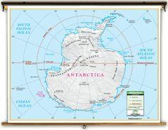 Universal Primary Antarctica Political Map