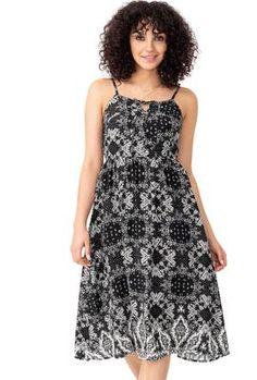 Patchwork Print Midi Dress Bali Retreat, Leaf Prints, Summer Tops, Casual, Inspiration, Beauty, Collection, Dresses, Fashion