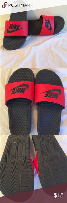 Nike Athletic Slides Youth size 5. Women's 6.5. Nike Athletic Slides. Excellent used condition. Very Minimal wear around front toe kick. Thanks! Nike Shoes Athletic Shoes