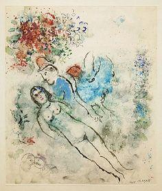 Marc Chagall, Nu, Coq Bleu 1975