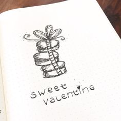 Bullet journal Valentine's Day drawing, bullet journal drawing idea, macaroon drawing.   @mylife.mylove.mypassion