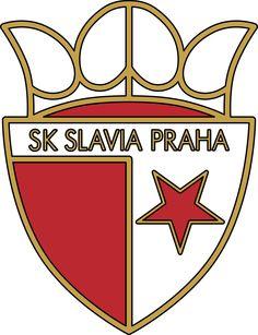 Slavia Prague of the Czech Republic crest. Team Mascots, Great Logos, Crests, Czech Republic, Cheerleading, Team Logo, Soccer, Sports Logos, Sporty