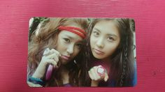 """SNSD TIFFANY & SEOHYUN """"OH"""" Official Photocard Photo Card Girl's Generation"""