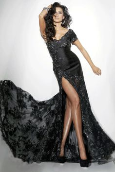 78eee1b6c9 2014 Mermaid One Shoulder Evening Dresses Black Sweep Brush Train Sexy  Style With Slit USD