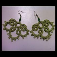 Handmade Tatted Earrings $15