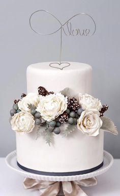 Wedding Cake Topper Wire Cake Topper Love by LeRusticChic, $14.99