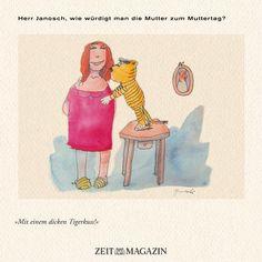 Herr #Janosch, wie würdigt man die Mutter zum #Muttertag?