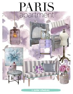 """""""Paris Perfect"""" by christyshawn on Polyvore featuring interior, interiors, interior design, home, home decor, interior decorating, Graham & Brown, Uttermost, J. Queen New York and Loom and Mill"""