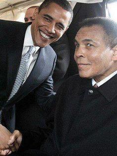 President Obama and Muhammad Ali Boxing