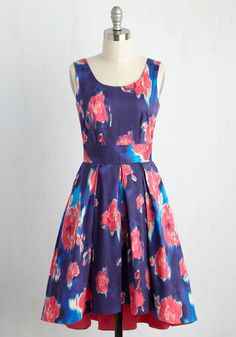 For all that you do for others, isn't it time you treat yourself to this blue dress by Closet London? Offering its rain-washed print of magenta flowers, waist-defining self tie, and high-low hemline to your charitable endeavors, this pocketed stunner is a stylish reward for your eternally giving spirit!