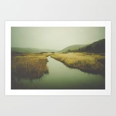 Valley Art Print, moody nature landscape, wildernes, rustic decor, home decor, decorating
