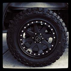 "Rims/Tires on my 2010 White Fx4 F150  Rims: 20"" Black Rhino Wheels  Tires: 33"" Nitto Trail Grappler M/T"