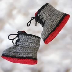 Baby hunting/work boots crochet