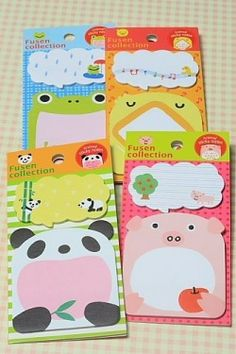 Kawaii Sticky Memo Set - Little Animals