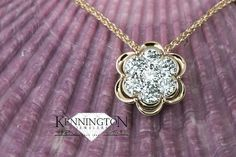 #KenningtonJewelers #custom design pendant. Simply stunning! #yellowgold #diamond #customremake #customjewelry