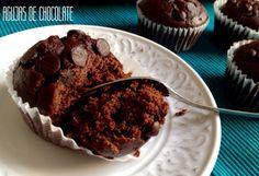Muffins de chocolate   agujasdechocolate