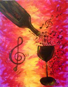 """Merlot Melodies"" July 24th http://www.pinotspalette.com/SouthLamar/Class/25725"