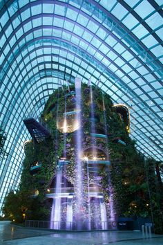 The Mountain in the Cloud Forest, Singapore's 'Gardens by the Bay' project by a team led by Grant Associates and including Wilkinson Eyre Architects, Atelier One, Atelier Ten, Land Design and Davis Langdon and Seah