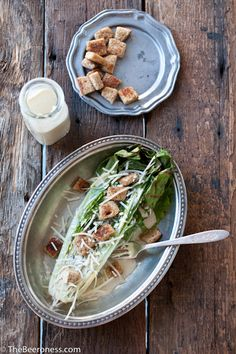 Grilled Romaine Salad with IPA Caesar Dressing Recipe by The Beeroness Sardine Recipes, Beer Recipes, Drink Recipes, Chicken Salad Recipes, Healthy Salad Recipes, Chicken Pasta, Soup And Salad, Pasta Salad, Rice Salad