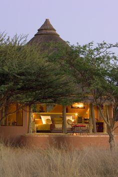 Bush Suite, Okonjima, situated in a secluded wilderness, Namibia.