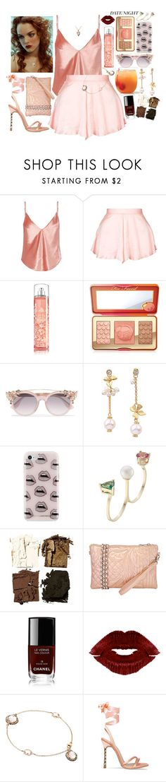 """""""Believe Cover ft. Ella Henderson"""" by leo8august ❤ liked on Polyvore featuring Fleur du Mal, Topshop, Too Faced Cosmetics, Jimmy Choo, Rebecca Minkoff, Delfina Delettrez, Illamasqua, JNB, Chanel and Astley Clarke"""