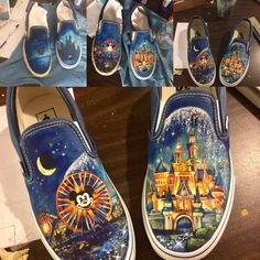 Wow, she has some mad skills creating these painted Tom's canvas shoes!  Visit the link to see more!