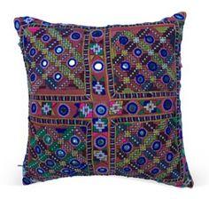 "Indian Gypsy Textile Pillow  -  Treasure Trove  -  13""  -  ($235.00)  $145.00"