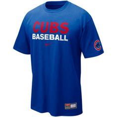 3d373c3f73a02 Chicago Cubs Royal Blue MLB Practice T-Shirt by Nike