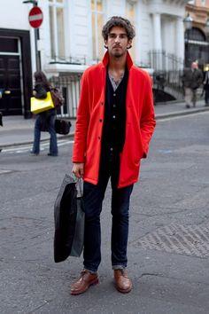 Image result for men red black outfit