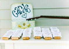 Garden Wedding | #Winecork #Placecard Holders | Kendra Krantz Photography #cjsoffthesquare