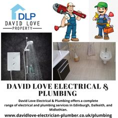 David Love Electrical & Plumbing offers a complete range of electrical and plumbing services in Edinburgh, Dalkeith, and Midlothian. Professional and prompt service available all times Local Plumbers, Plumbing Emergency, Prompt, Edinburgh, All About Time, David, Range, Times, Website