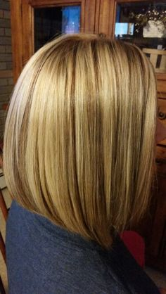 Multi blonde foil with copper brown lowlights for fall color