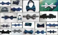 The wide variety of bow ties I have made till now! Did not realise I had made so many until I was looking for pictures for this collage.