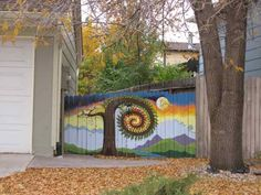 Gorgeous privacy fence mural