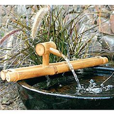 Turn any container into a water fountain with a bamboo water spout and pump fountain kit. Inspire beautiful fountains with a personal touch to your home or garden decor. Garden accent has endless creative possibilities.