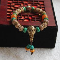 White Moon Star Mala Bodhi Tibetan Buddhist Prayer Beads/Bracelet