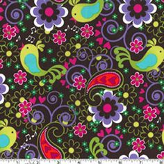 Birdsong Cocoa Michael Miller Fabric 1 yard by BellaFabrics, $8.50